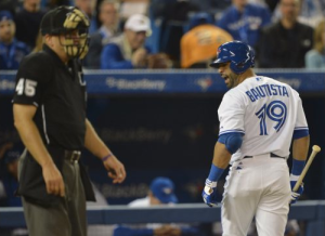 Jose Bautista called out on strikes