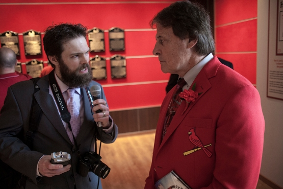Interviewing 2014 HOF Inductee Tony La Russa. Pic via Robert Rohe, rrohe.com