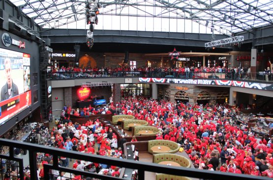 Cardinals Ballpark Village has one of the largest TV's I've ever seen!