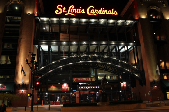 Busch Stadium at Night